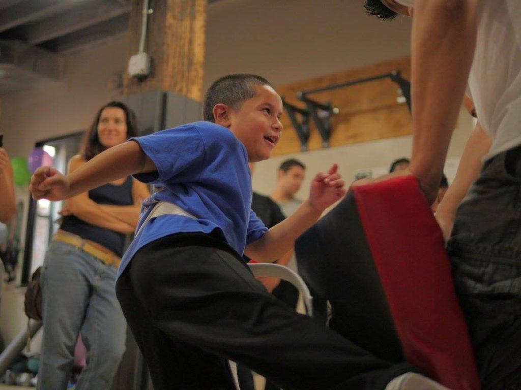 Kids learn Karate